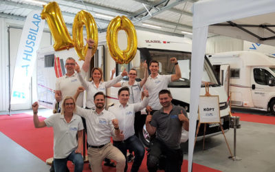 100 sålda husbilar hittills 2018