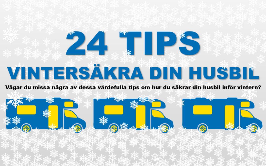 24 tips hur du vintersäkrar din husbil inför vinterförvaringen
