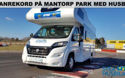 Banrekord med husbil på Mantorp Park