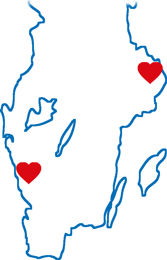 Karta över Svea Husbilars anläggningar